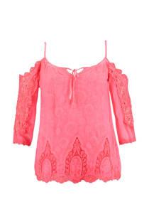 FSTVL by MS Mode open shoulder top roze (dames)