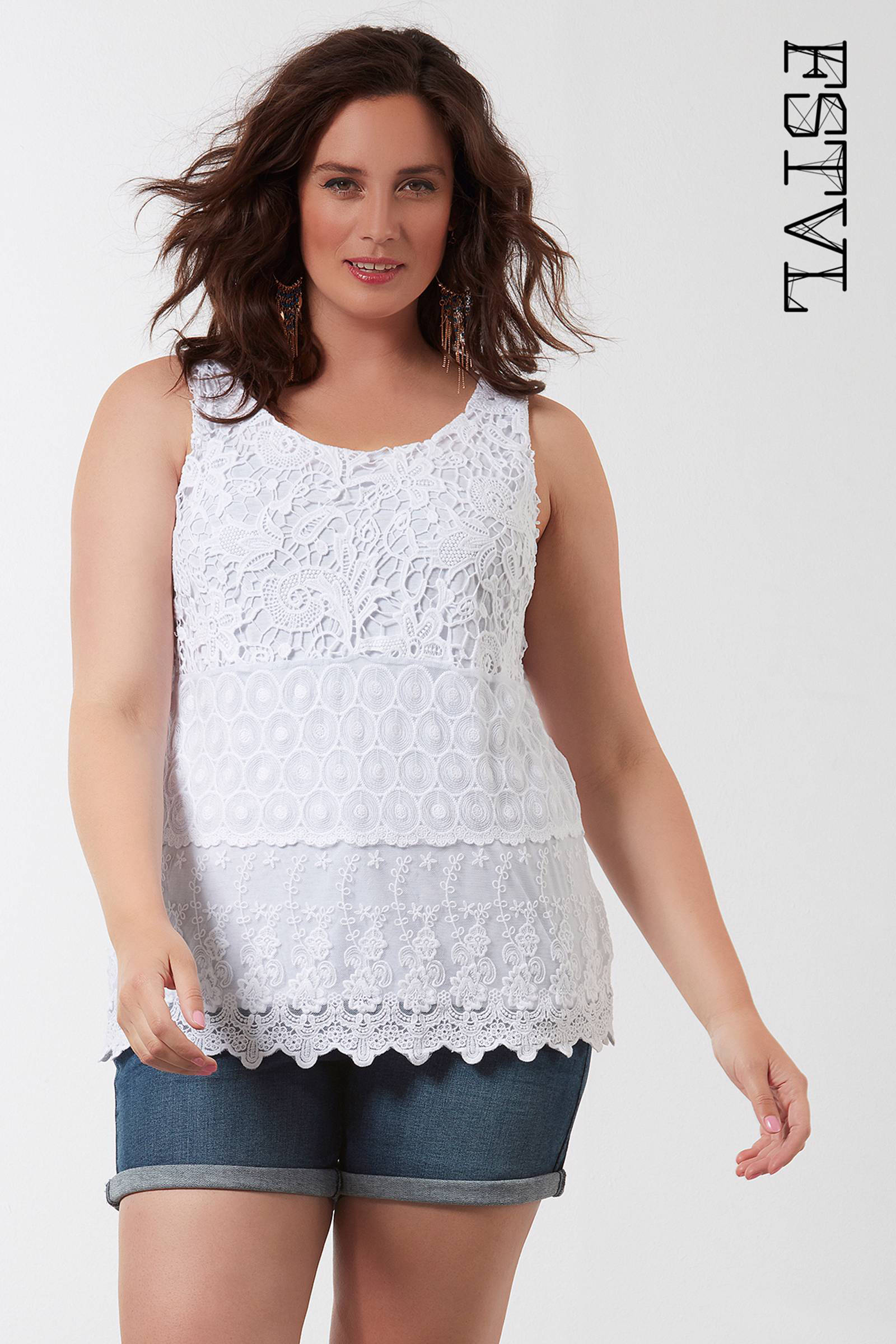 Uitzonderlijk MS Mode gehaakte top wit | wehkamp &RR81