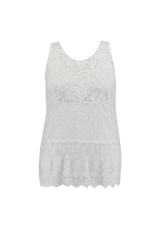 Vaak MS Mode gehaakte top wit | wehkamp #YA33