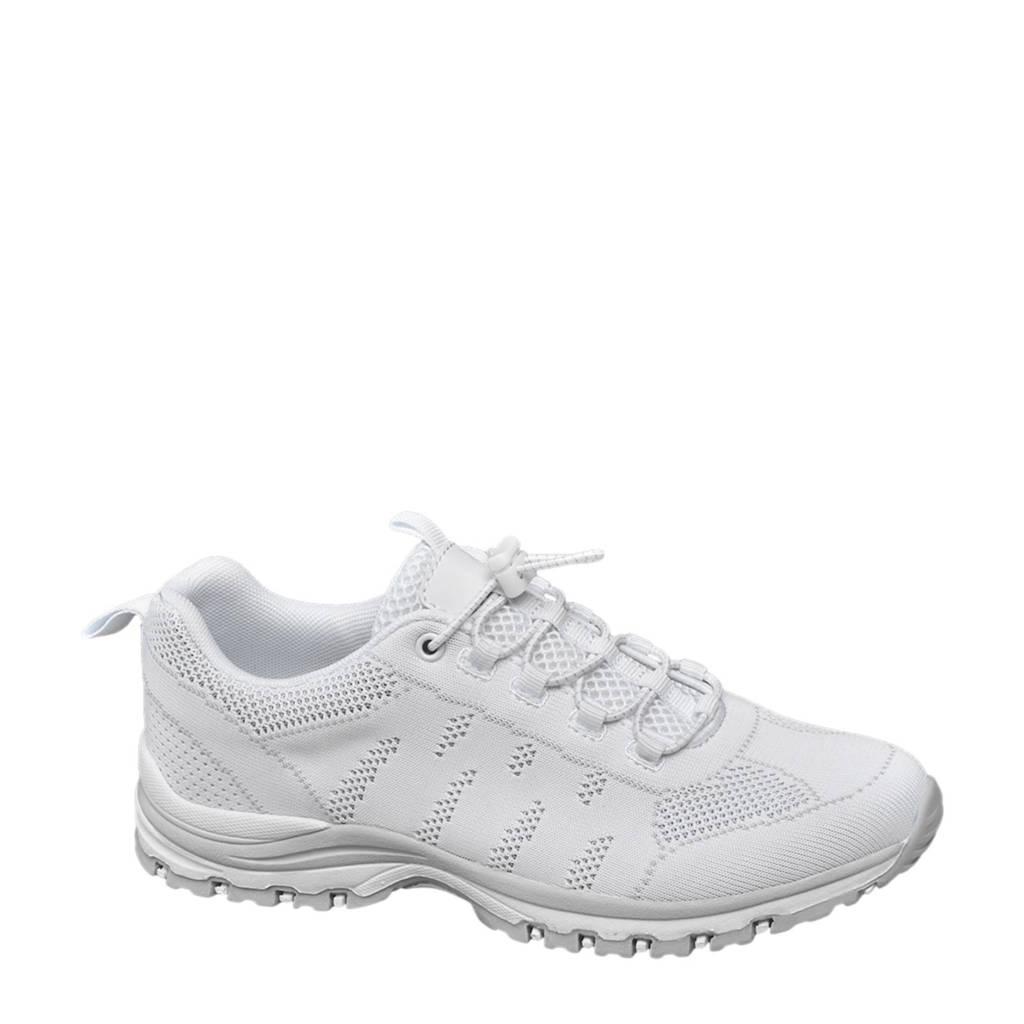 vanHaren Landrover   sneakers met opengewerkte details wit, Wit