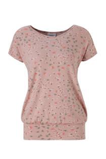 C&A Positiemode positie T-shirt met bloemen oudroze