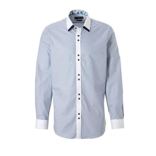 slim fit overhemd met ruitprint