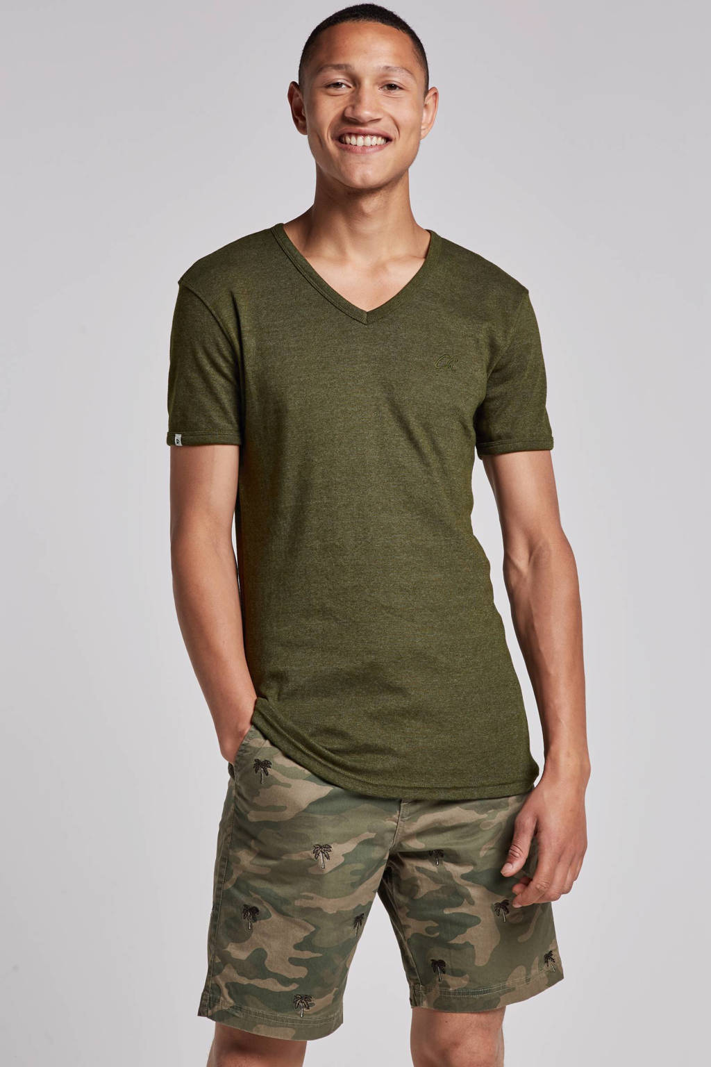 Chasin' T-shirt, Olijfgroen