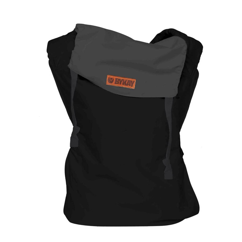 ByKay draagzak Click Carrier Reversible 50401 zwart/antraciet, Black/steel grey