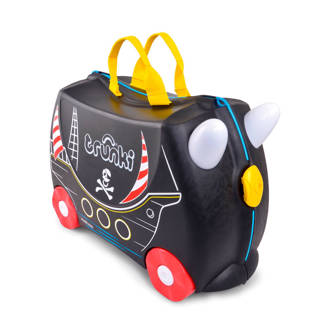 Ride-on kinderkoffer piraat
