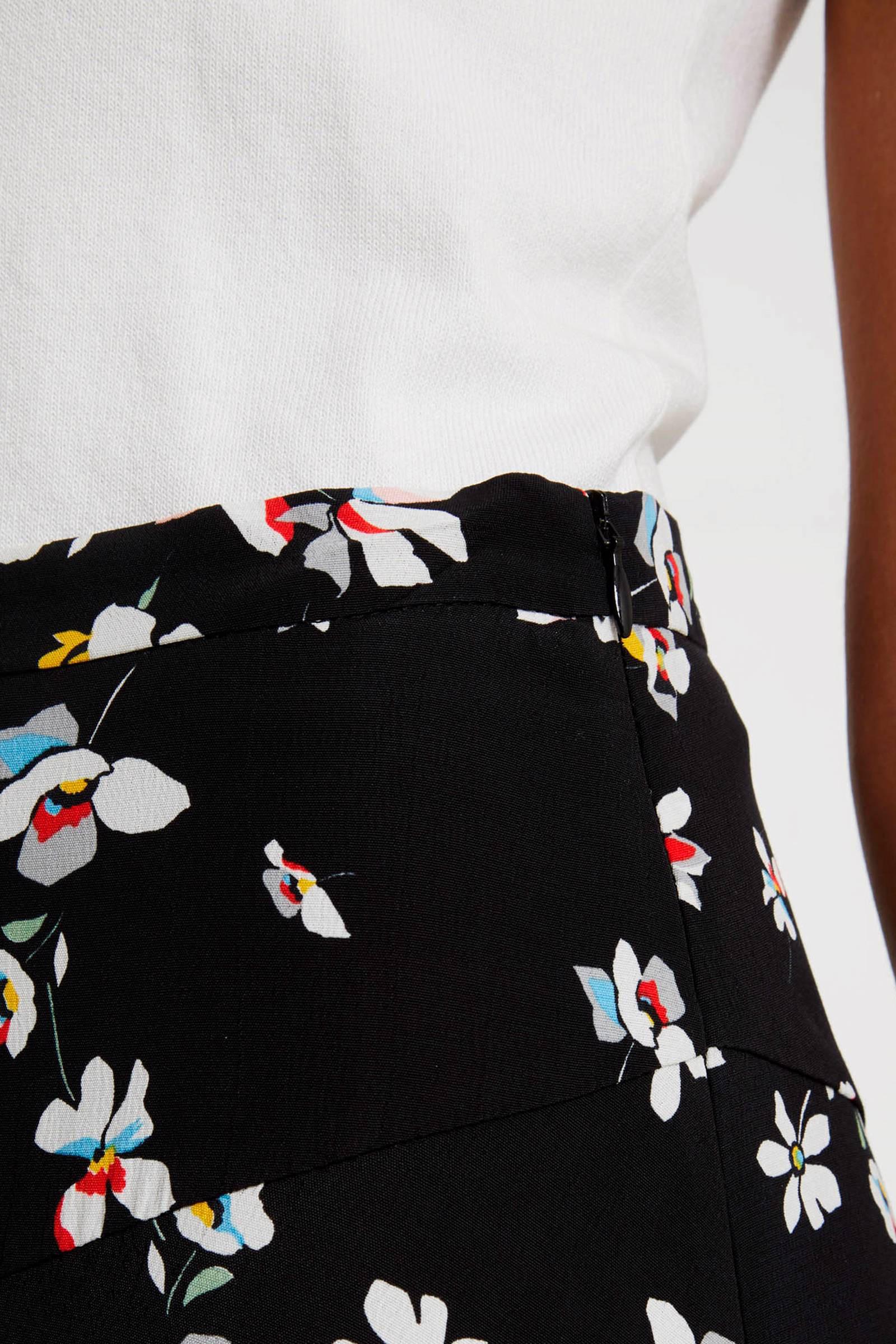 7cd9e3c67477a1 Morgan gebloemde high waist rok zwart