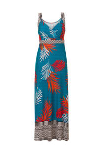 Miss Etam Regulier jurk met print turquoise (dames)