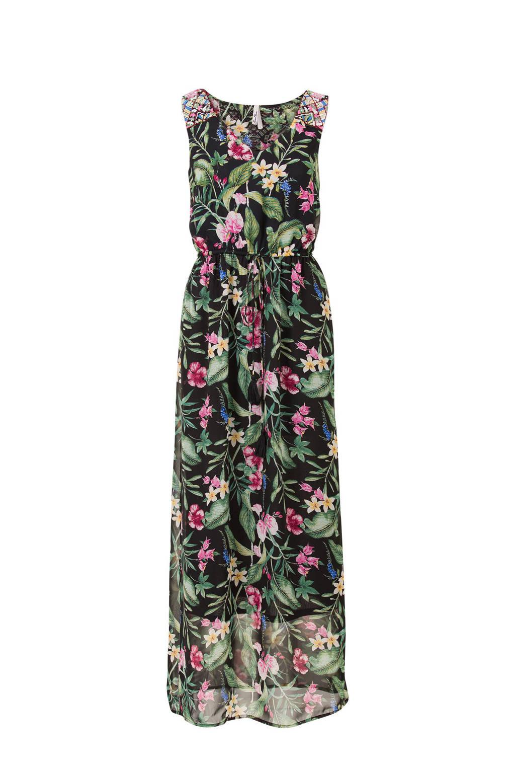 Miss Etam Regulier jurk met borduursels, Zwart
