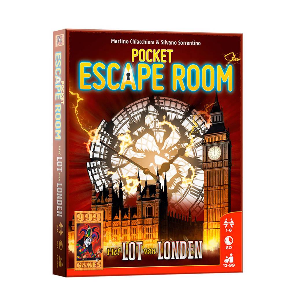 999 Games Pocket Escape Room: het lot van londen kaartspel