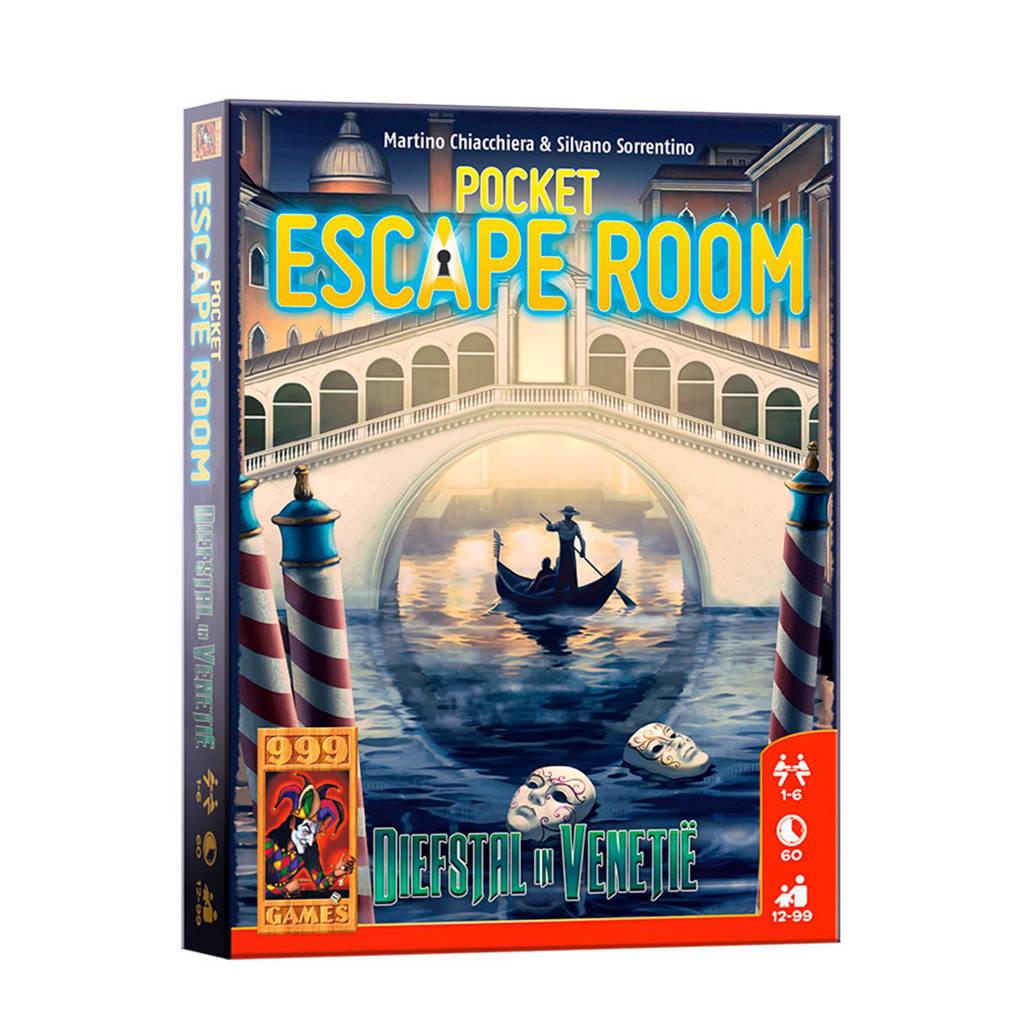 999 Games Pocket Escape Room: diefstal in Venetië kaartspel