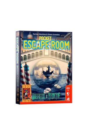 Pocket Escape Room: diefstal in Venetië kaartspel
