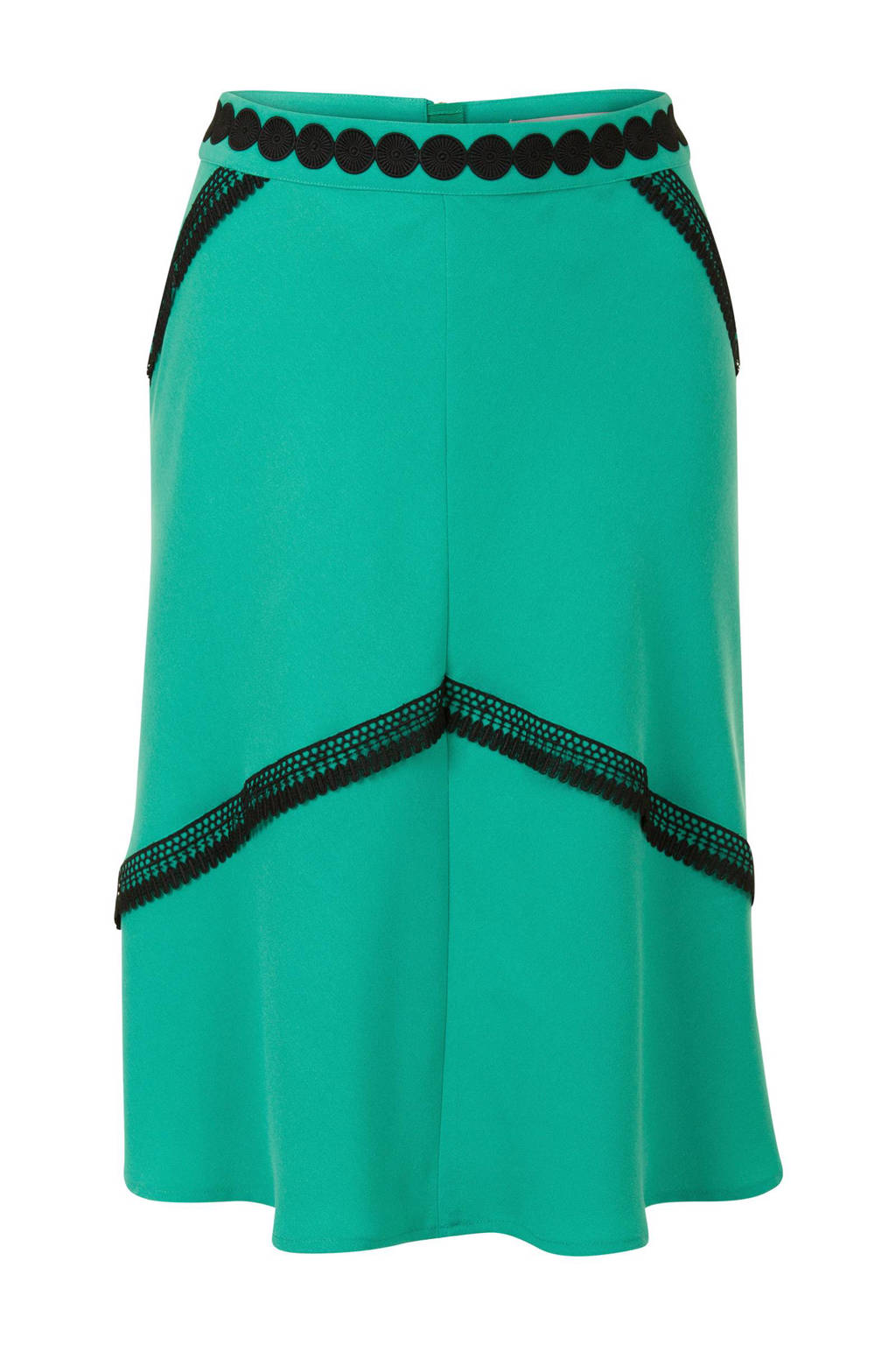 Steps rok met kant turquoise, Turquoise