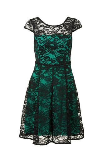 kanten jurk turquoise