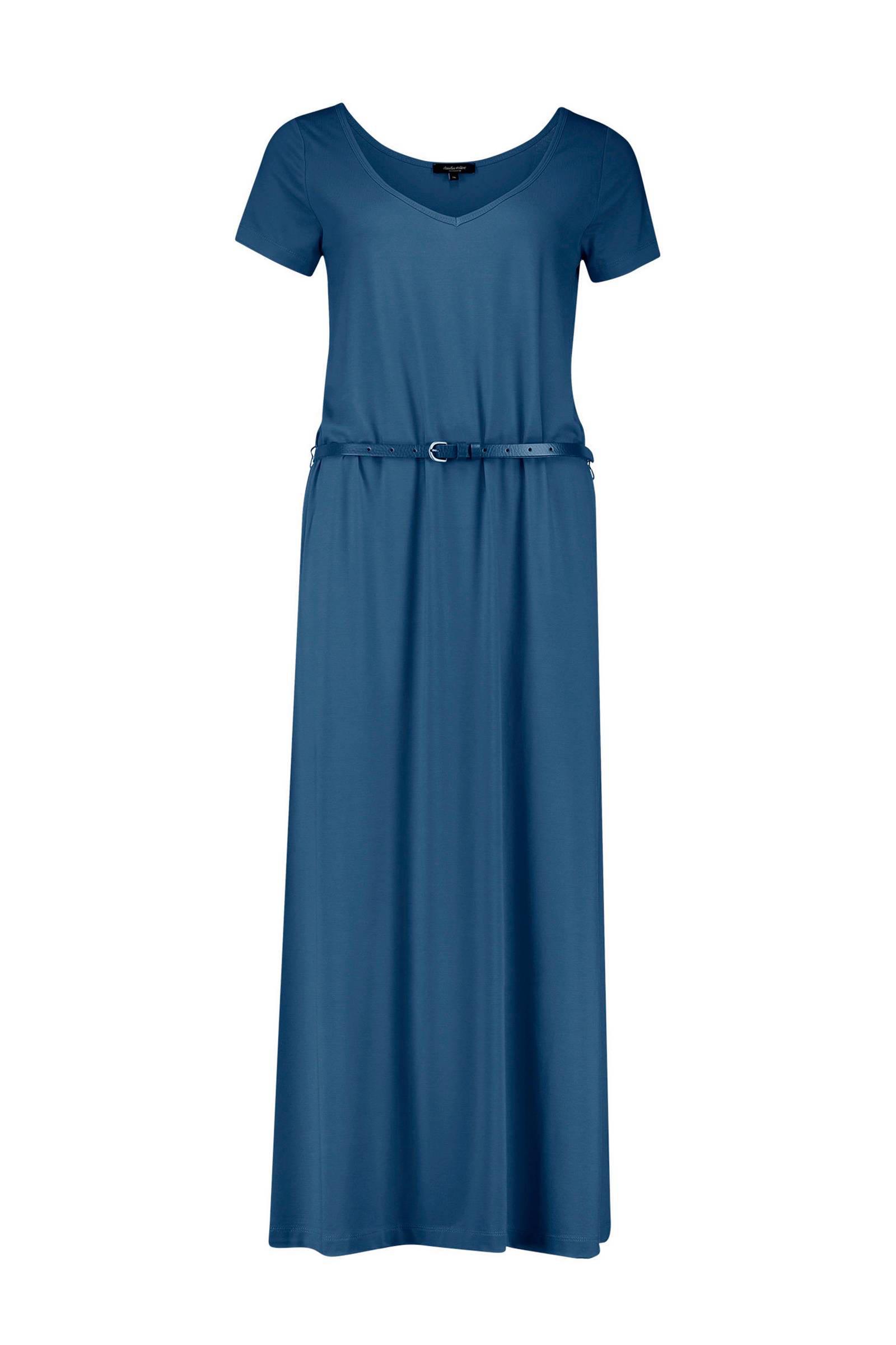maxi jurk blauw