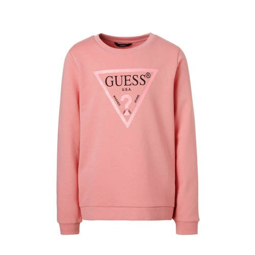 GUESS sweater met glitters roze