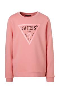 GUESS sweater met glitters roze (meisjes)
