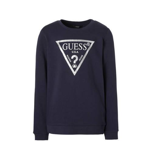 sweater met glitters blauw