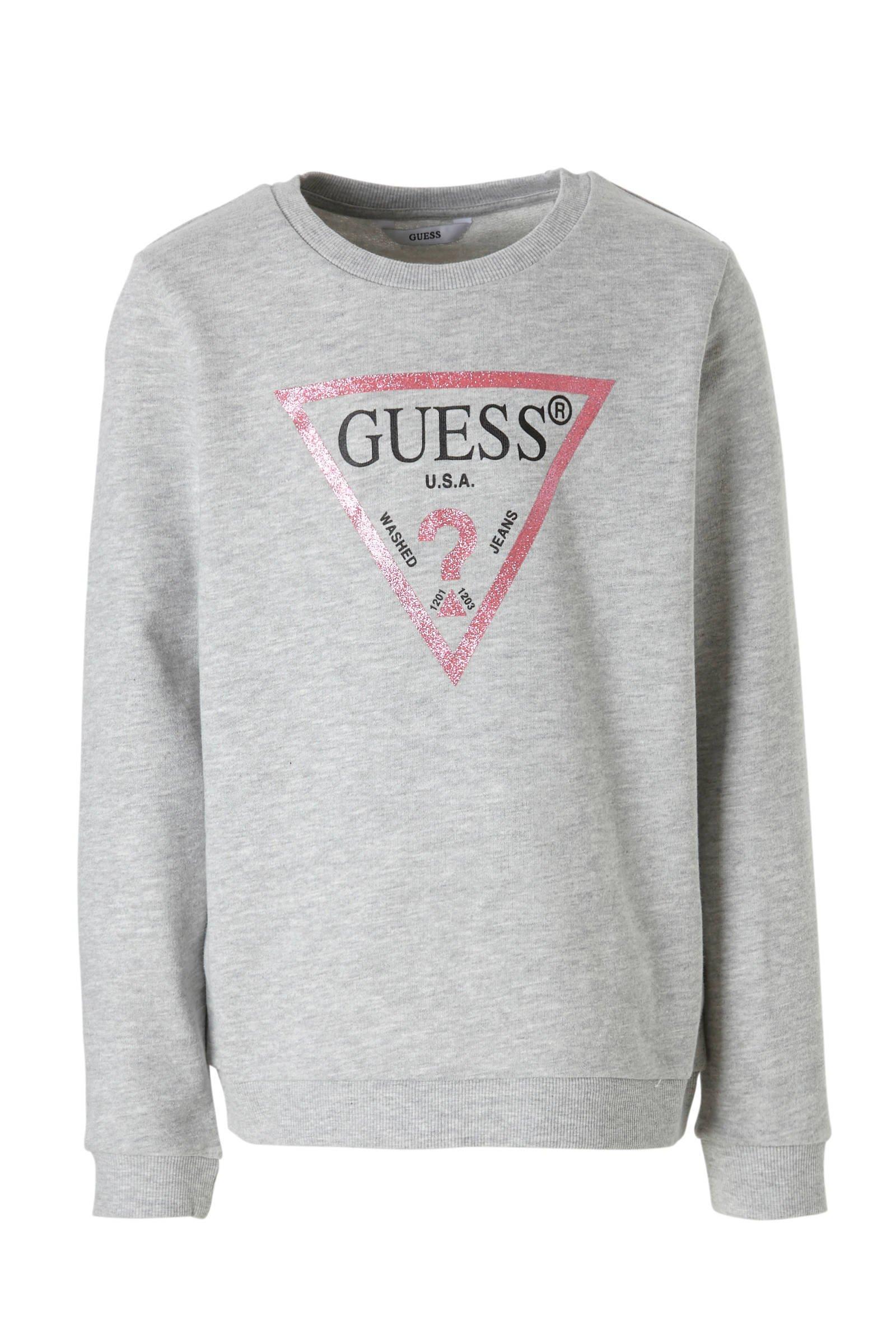 Guess Guess Trui Logo Roze | Berden Fashion