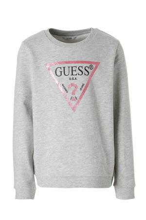 sweater met glitters grijs