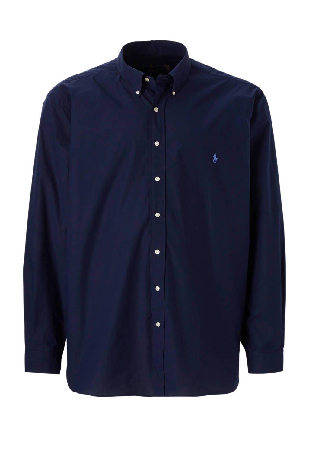 POLO Ralph Lauren Big & Tall +size regular fit overhemd, Donkerblauw