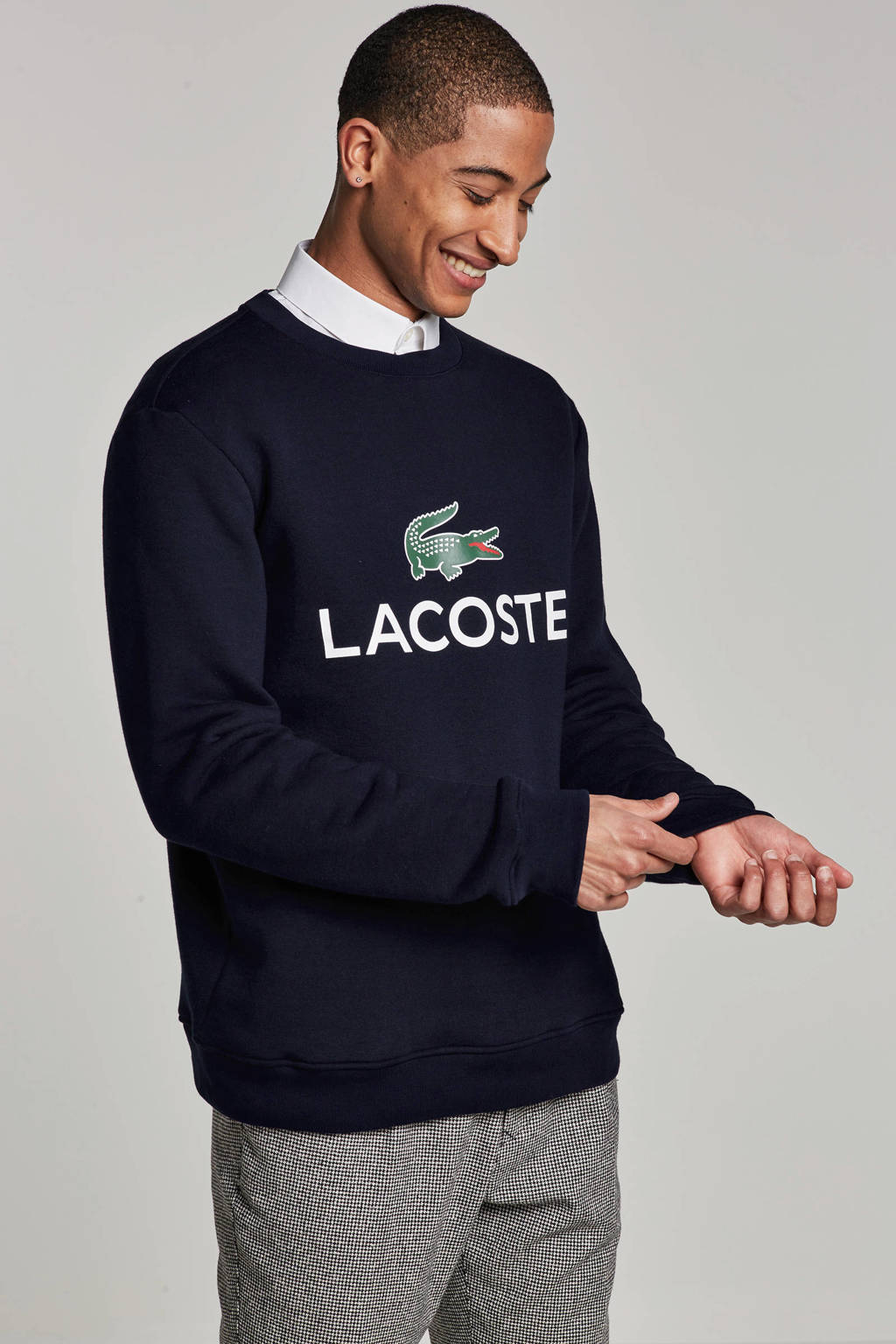 Lacoste sweater, Donkerblauw