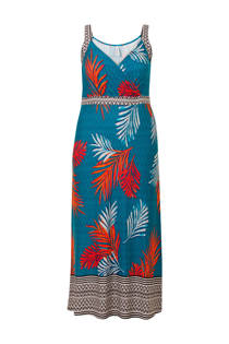 Miss Etam Plus jurk met print turquoise (dames)