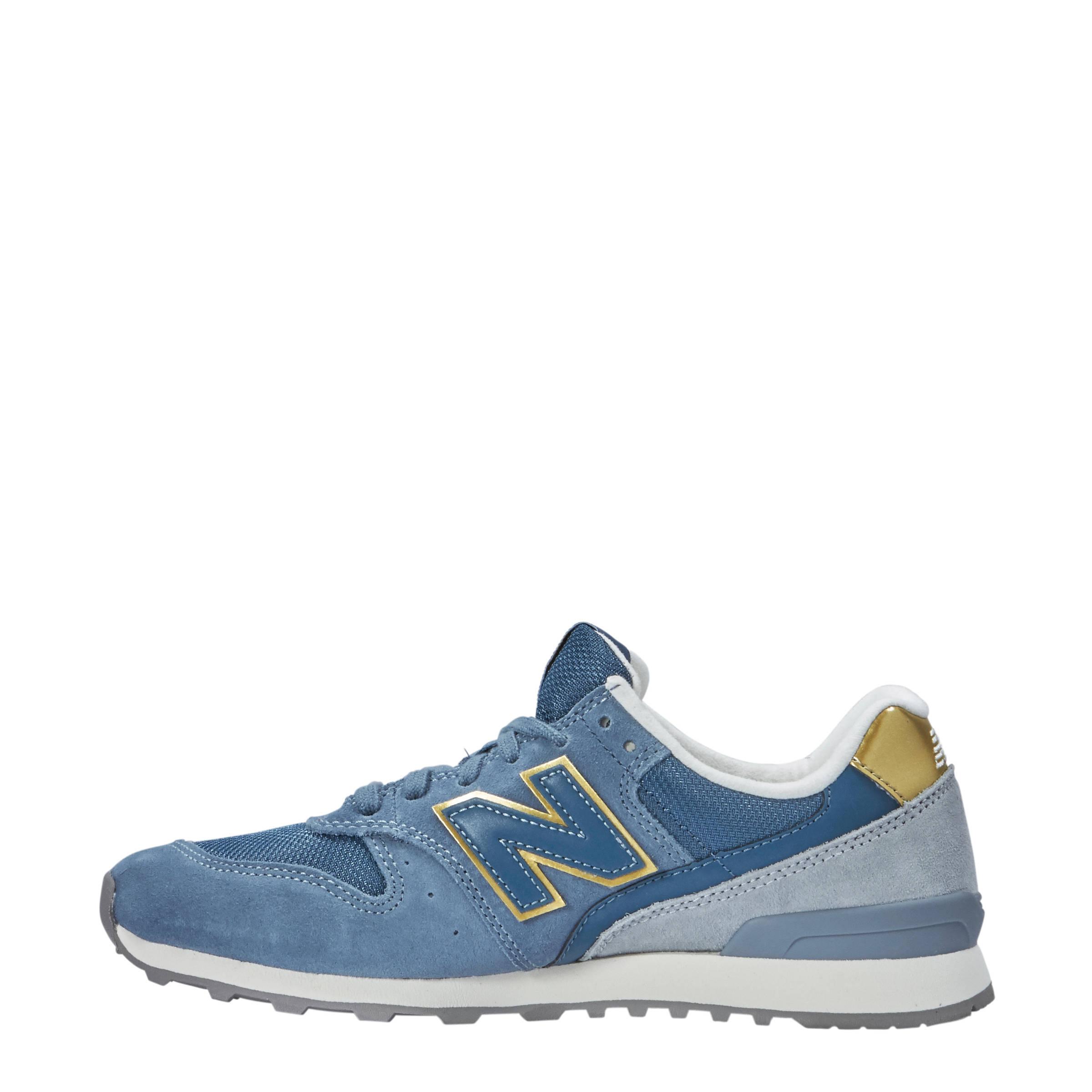 new balance 996 blauw goud