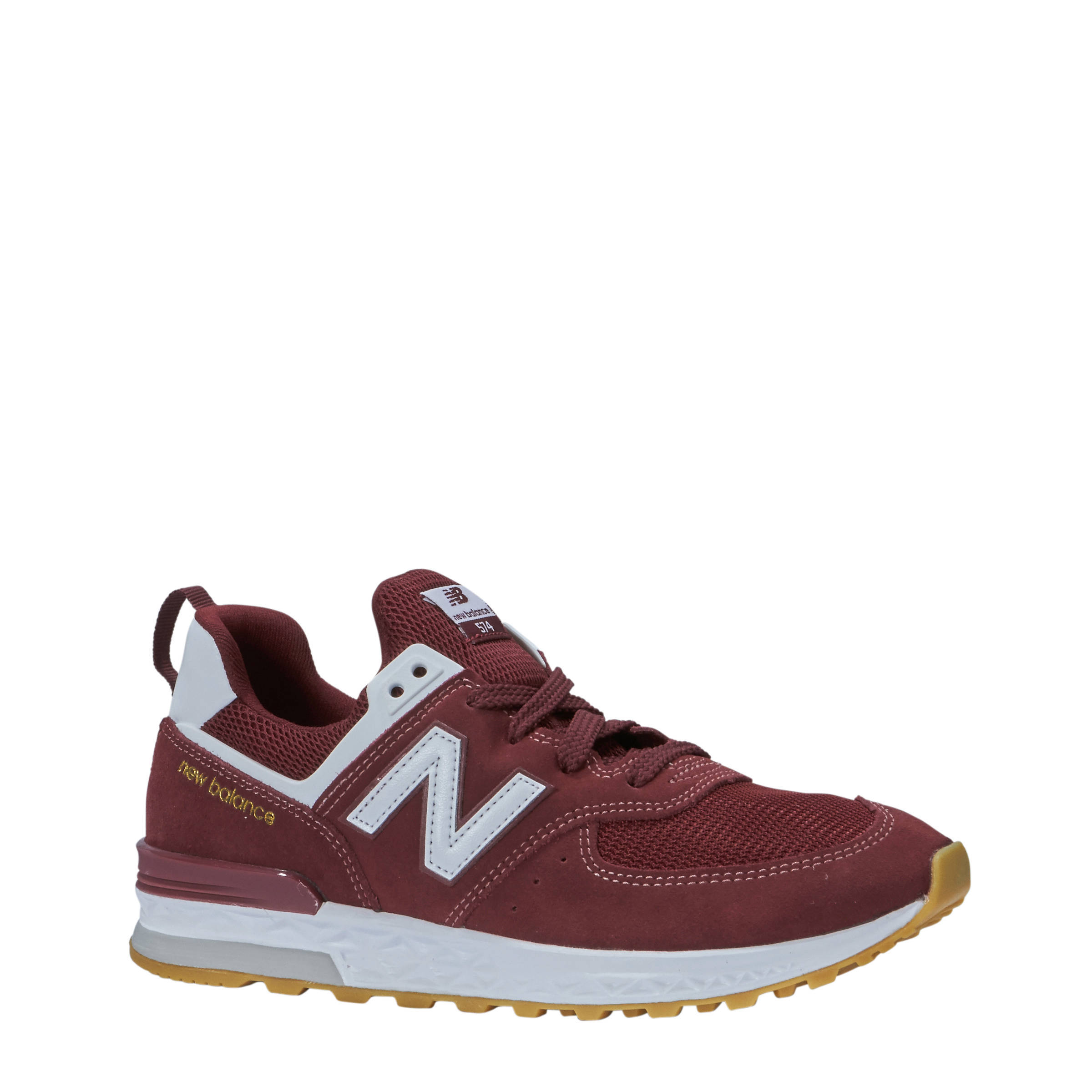 new balance 574 dames bordeaux rood