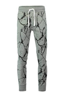 sweatpants in all over print grijs