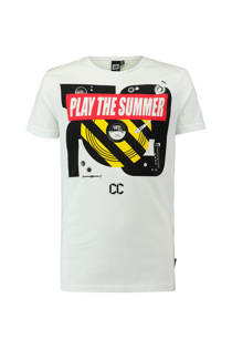 CoolCat T-shirt met tekst wit