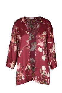 Cassis gebloemde kimono