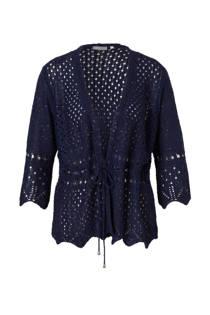 C&A Canda vest met glitters donkerblauw