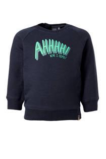 Babyface sweater met tekst blauw (jongens)
