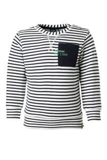Babyface gestreepte sweater wit/blauw (jongens)
