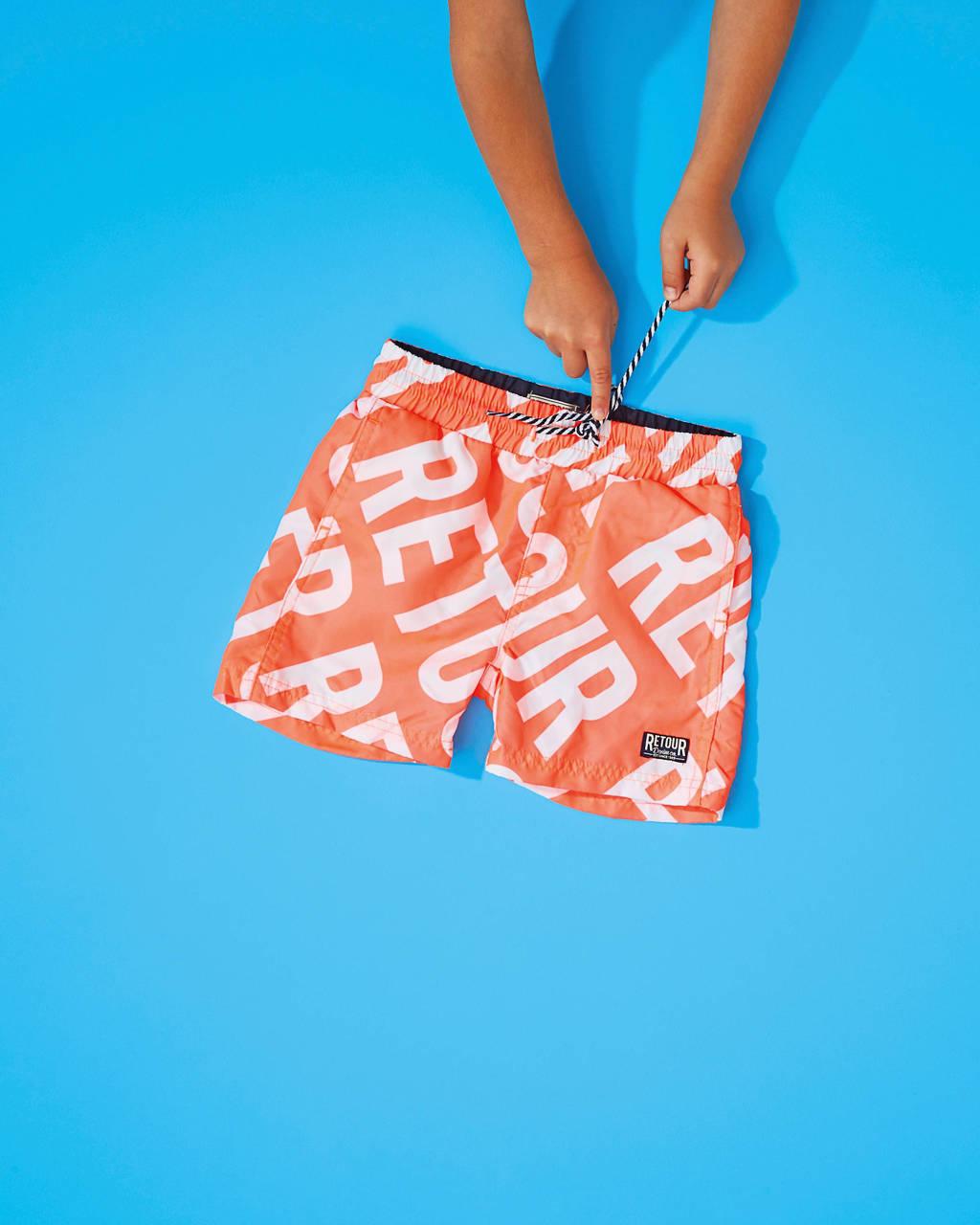 Retour Zwembroek.Retour Denim Zwemshort All Over Print Fluor Oranje Wehkamp
