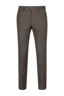 WE Fashion x Van Gils slim fit pantalon Arklow bruin (heren)