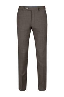 x Van Gils slim fit pantalon Arklow bruin
