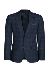 WE Fashion x Van Gils slim fit wollen blazer donkerblauw (heren)