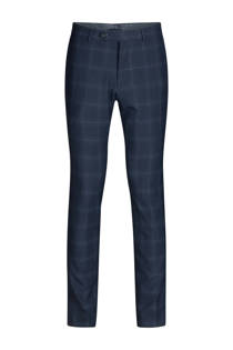 WE Fashion x Van Gils wollen slim fit pantalon blauw (heren)