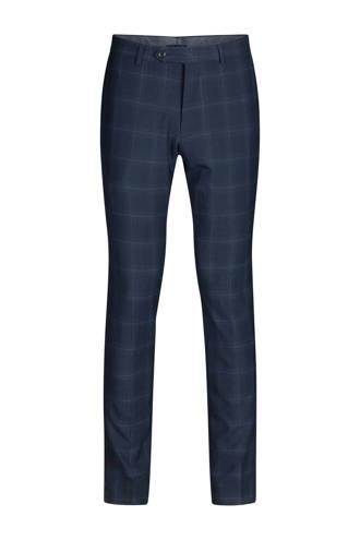 x Van Gils wollen slim fit pantalon blauw