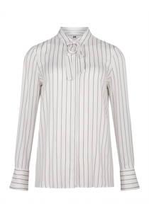 WE Fashion gestreepte slim fit blouse wit (dames)