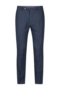 WE Fashion x Van Gils slim fit pantalon Lisburn blauw (heren)