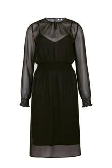 semitransparante jurk zwart