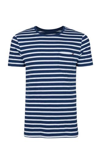 Blue Ridge slim fit gestreept T-shirt  blauw