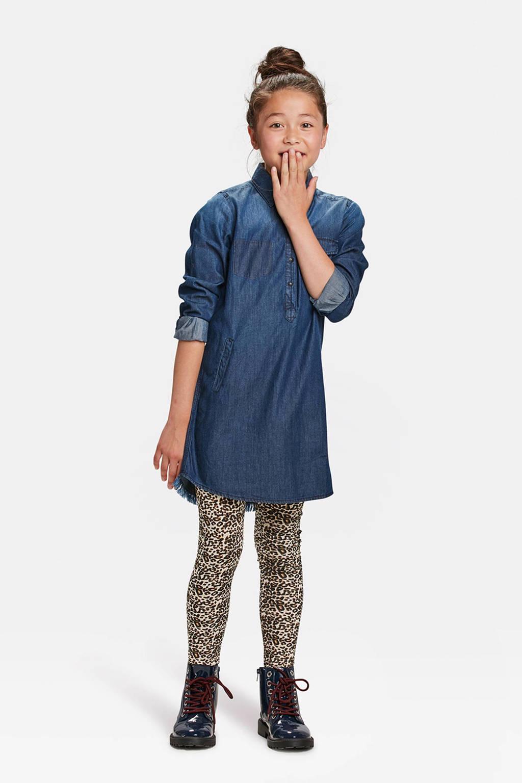 WE Fashion legging met panterprint bruin, Bruin