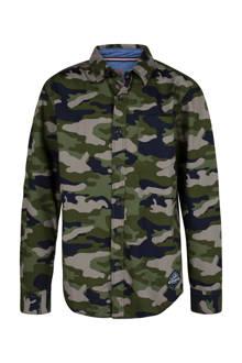 overhemd met camouflage print