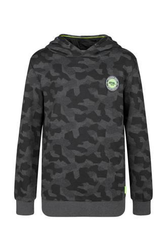 hoodie met camouflageprint zwart