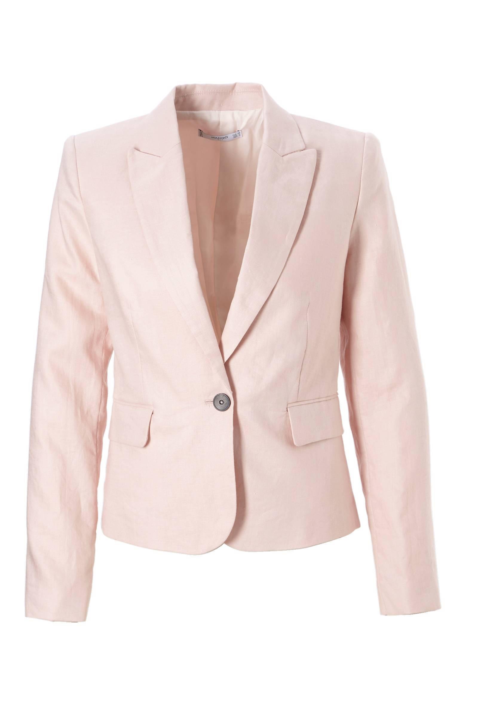 linnen blazer roze