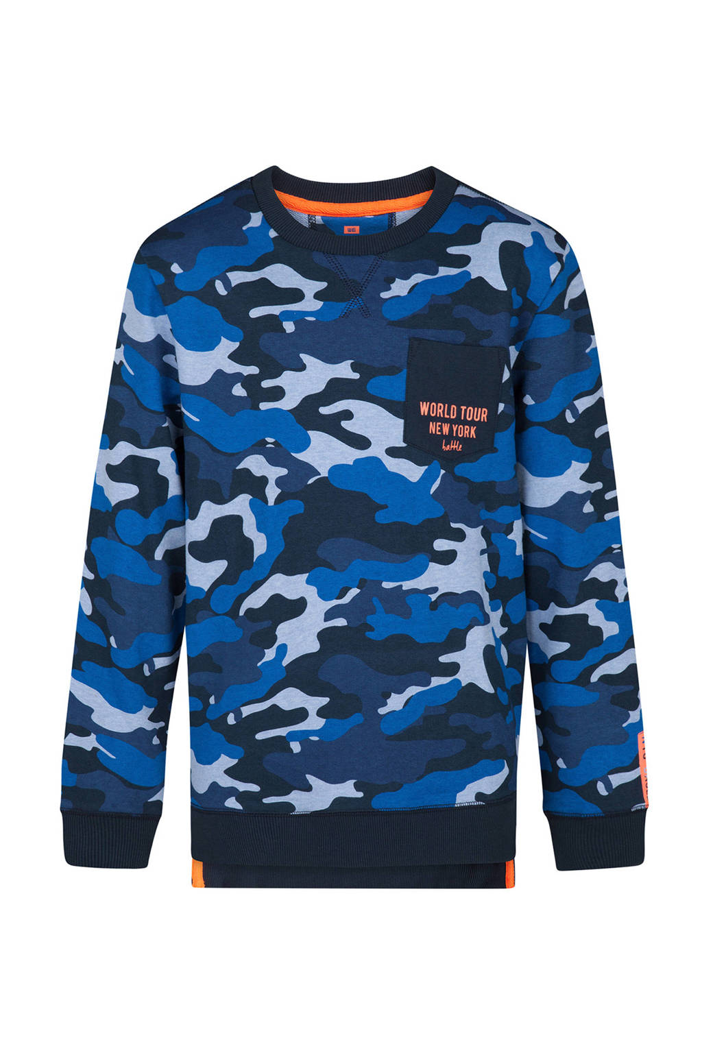 Legerprint Trui Dames.We Fashion Sweater Met All Over Camouflage Print Blauw Wehkamp