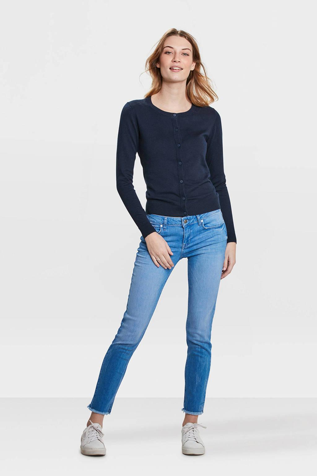 WE Fashion vest blauw, Donkerblauw